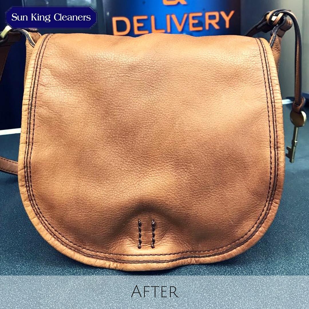 Handbag cleaning - after