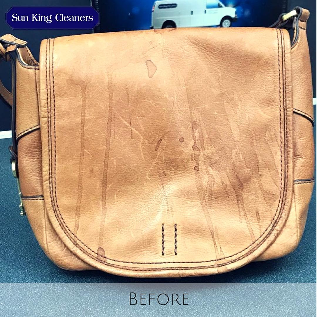 Handbag cleaning - before